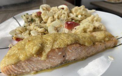 Air Fryer Garlic Butter Salmon