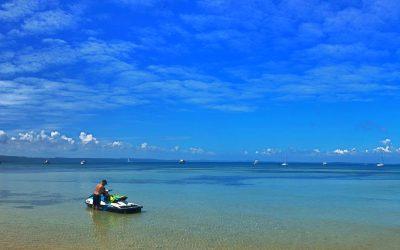 Moreton Bay, Blue Bottles and a Jet Ski
