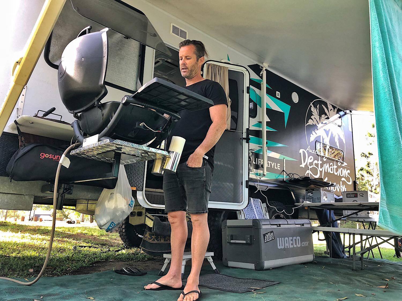 Bbq Arm Tray Bundle For Car Or Trailer Aussie