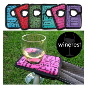 camping wine glass holder, camp chair wine glass holder, wine glass holder for campchair, aussie destinations unknown,